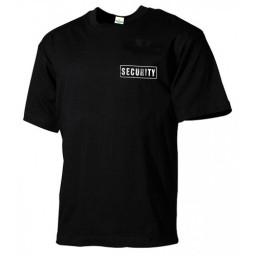 Мъжка черна тениска SECURITY
