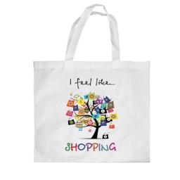 Пазарска чанта Shopping с щампа