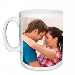 Бяла порцеланова чаша с Ваша снимка