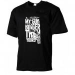 Мъжка черна памучна тениска с щампа