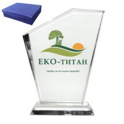 Кристален плакет с вашето лого или снимка