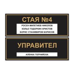 Табели за врата или стена с имена