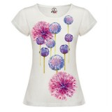 Дамска тениска Flowers модел реглан